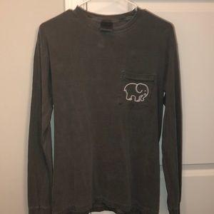 Dark gray ivory Ella long sleeve shirt